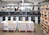 Print shop (press printing) - Finishing line — 图库照片