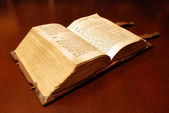 Old book: holy Bible — Stock Photo