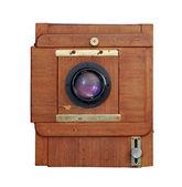 Alte hölzerne fotokamera — Stockfoto