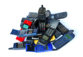 Old cell phones — Stock Photo