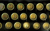 Old typewriter, detail — Stock Photo