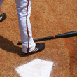 Batter at Home Plate — Stock Photo