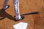 Bateador en el plato de home — Foto de Stock