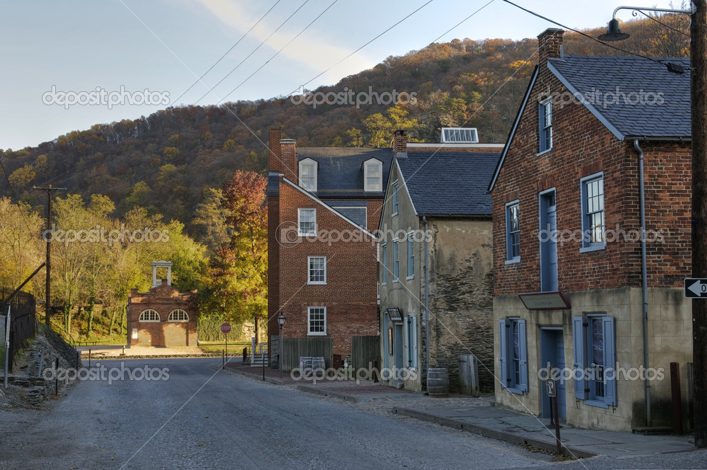 Potomac Street in Harpers Ferry, West Virginia  Stock Photo #7549415