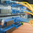 Shot of network cables and servers in a technology data center — Stock Photo #7858198