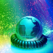 Globe with high technology background — Stockfoto