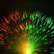 Stock Photo: fiber optics background with lots of light spots