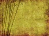 Silueta de ramas de bambú sobre papel — Foto de Stock
