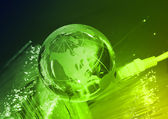 Globe with high technology background — Stock Photo