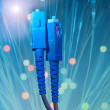 Stock Photo: Fiber optical network cable
