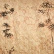 Design of chinese bamboo trees with texture of handmade paper — Stock Photo #7872574