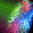 Fiber optic background - Stock Photo