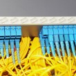 Shot of network cables and servers in a technology data center - Stockfoto