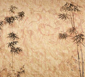 Design of chinese bamboo trees with texture of handmade paper — Stock Photo