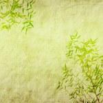Bambus auf alten Grunge antiken Papier Textur — Stockfoto