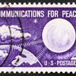 Stamp USA 1960 Echo I satellite — Stock Photo