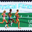 Stock Photo: Postage stamp US1983 Physical fitness