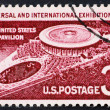 Postage stamp USA 1958 U.S. pavilion at Brussels Fair - ストック写真