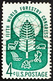 Postage stamp USA 1960 World forestry congress — Stock Photo