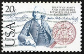 Postage stamp USA 1983 Benjamin Franklin — Stock Photo