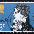 Postage stamp GREAT BRITAIN 1971 John Keats, writer — Stock Photo