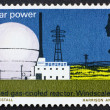 Postage stamp USA 1966 Windscale atomic reactor — Stock Photo
