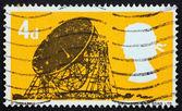 Francobollo usa 1966 jodrell bank radio telescopio — Foto Stock