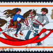 Postage stamp GREAT BRITAIN 1978 Boy and Girl playing with Rocki — Stock Photo