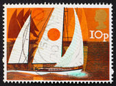 Postage stamp GREAT BRITAIN 1974 Cruising yachts — ストック写真