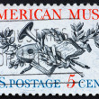 Stock Photo: Postage stamp USA 1964 Music instruments
