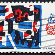 Postage stamp USA 1964 Fine arts - Stock Photo
