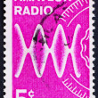 Postage stamp USA 1964 Radio waves and dial — Stock Photo
