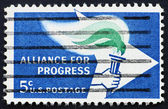 Postage stamp USA 1963 Alliance for Progress — Stock Photo