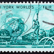 Postage stamp US1964 Mall with Unisphere and rocket thrower — Stock Photo #7208787