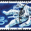 Royalty-Free Stock Photo: Postage stamp USA 1967 Space-Walking Astronaut