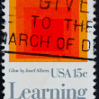 Postage stamp USA 1980 Glow by Josef Albers — Stock Photo