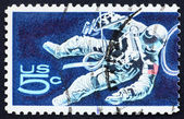Postage stamp USA 1967 Space-Walking Astronaut — Stock Photo