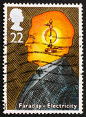 Postage stamp GB 1991 Michael Faraday, electricity — Stock Photo