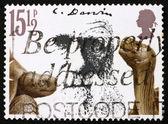 Postzegel gb 1982 reuze schildpadden en charles darwin — Stockfoto