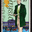 Postage stamp GB 1979 Sir Rowland Hill, originator of penny post — Stock Photo