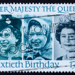 Stock Photo: Postage stamp GB 1986 Her Majesty Queen Elizabeth II
