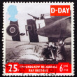 Postage stamp GB 1994 Ground Crew reloading FAF Bostons — Stock Photo