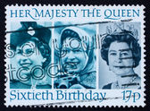 Postage stamp GB 1986 Her Majesty the Queen Elizabeth II — Stock Photo