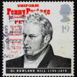 Stock Photo: Postage stamp GB 1995 Sir Rowland Hill, originator of penny post