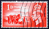 Postage stamp GB 1948 Gathering seaweed — Stock Photo