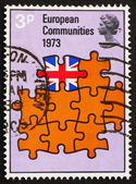 Postage stamp GB 1973 Britain as Part of European Community — Stock Photo