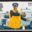 Stock Photo: Postage stamp GB 1979 Police constable directing traffic