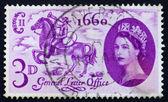 Estampilla gb 1960 postillón a caballo — Foto de Stock
