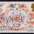 Postage stamp GB 1981 Lovebirds, Angels and Heart — Photo #7519845