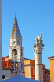 Venice lion and steeple — Stock Photo